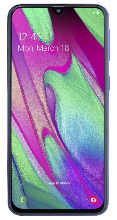 Смартфон Samsung Galaxy A40 64Gb Синий (SM-A405F)