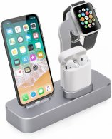 Док-станция COTEetCI для Apple Watch/iPhone/AirPod Base19 CS7201-GY Space Gray