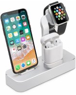 Док-станция COTEetCI для Apple Watch/iPhone/AirPod Base19 CS7201-TS Silver