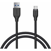 Кабель Aukey Braided Nylon (CB-AC1) USB-C to USB-A 3.1 1.2m (Black)
