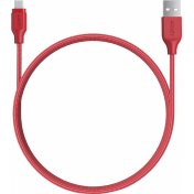 Кабель Aukey Braided Nylon (CB-AM1) microUSB to USB-A 1.2m (Red)
