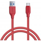 Кабель Aukey Braided Nylon (CB-AC1) USB-C to USB-A 3.1 1.2m (Red)