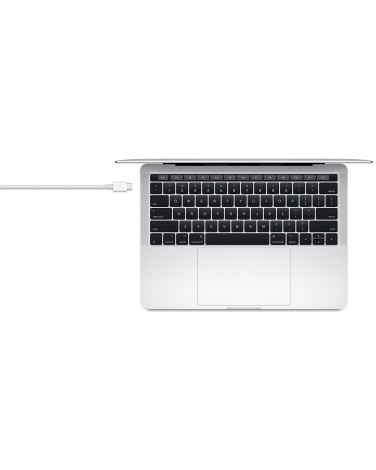 Кабель Apple USB-C Thunderbolt 3 0.8 метра, White (MQ4H2ZM/A)