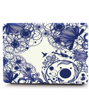 Накладка i-Blason Cover для MacBook Air 13 (Blue Line Flowers)