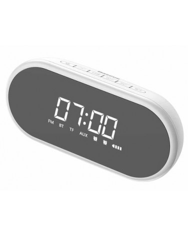 Колонка-часы Baseus Encok Wireless Speaker, белая (NGE09-02)
